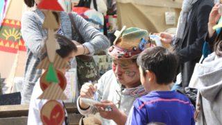 土日はアースデイ東京でフェイスペイント。今年もベビーアースデイというエリアです。会場マップなど。