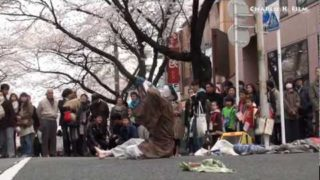 本日、東急田園都市線 宮崎台駅前の『ふる里さくら祭り』にてフェイスペイント。