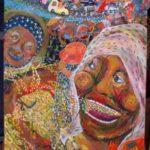 高岡蜂の巣にて展示販売中の新作絵と、ダンボールイラスト復活!
