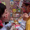 下北沢のこはぜ珈琲前「やなかまストリートマーケット」でフェイスペイントしてきたよ