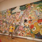 高さ3.3m?幅7.2m、52人の皆さんの絵との合作「きみもひつよう」、あさってまで展示してます。