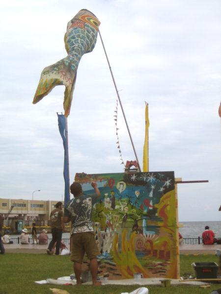 2011年夏 佐渡島アースセレブレーション ハプニングステージでのパフォーマンス
