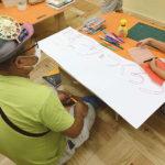 JimoKidsでの水曜午後の工作教室がスタートしました!最初のテーマは「おまつりをつくろう」