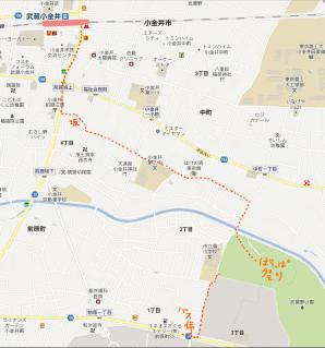 はらっぱ駅から歩く地図