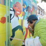 豊島区南長崎公園のトイレ外壁に絵を描いたよ、3月には工事終えて見られるそう。