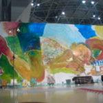 東京ビッグサイトデザインフェスタにてでかい絵を描いてます