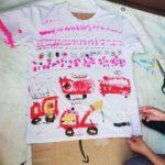 善福寺の家での工作の報告「Tシャツリメイクデザイナーになろう」